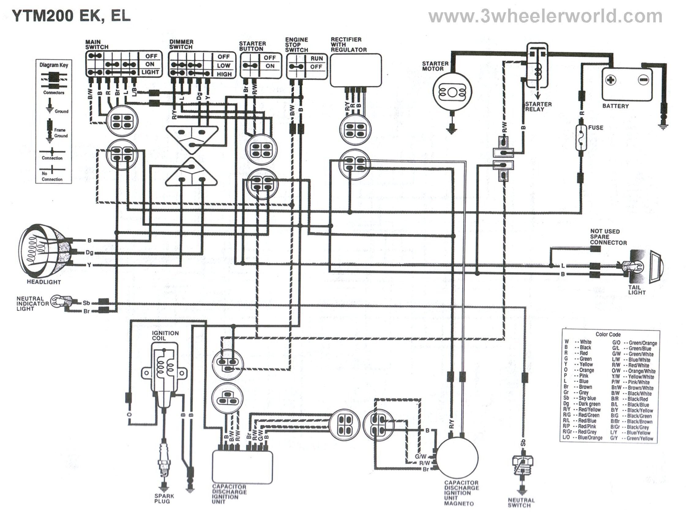 Yamaha Virago CDI Wiring Diagram Rebuilds 3 wheeler world tech help yamaha wiring diagrams ripping