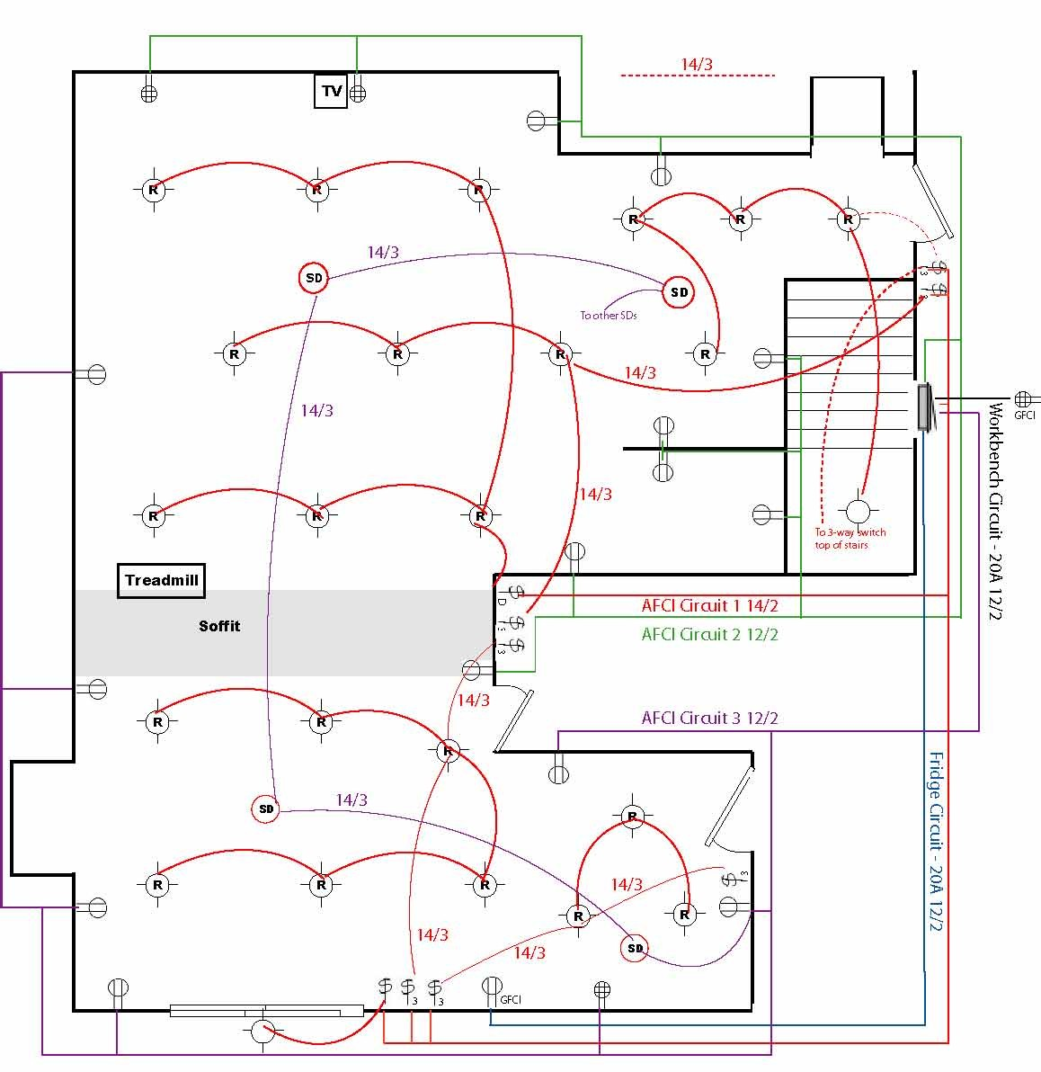 Kitchen Outlet Wiring Diagram Modern Electrical Outlets Not Lossing Exelent A Festooning The Best Under Cabinet Layout