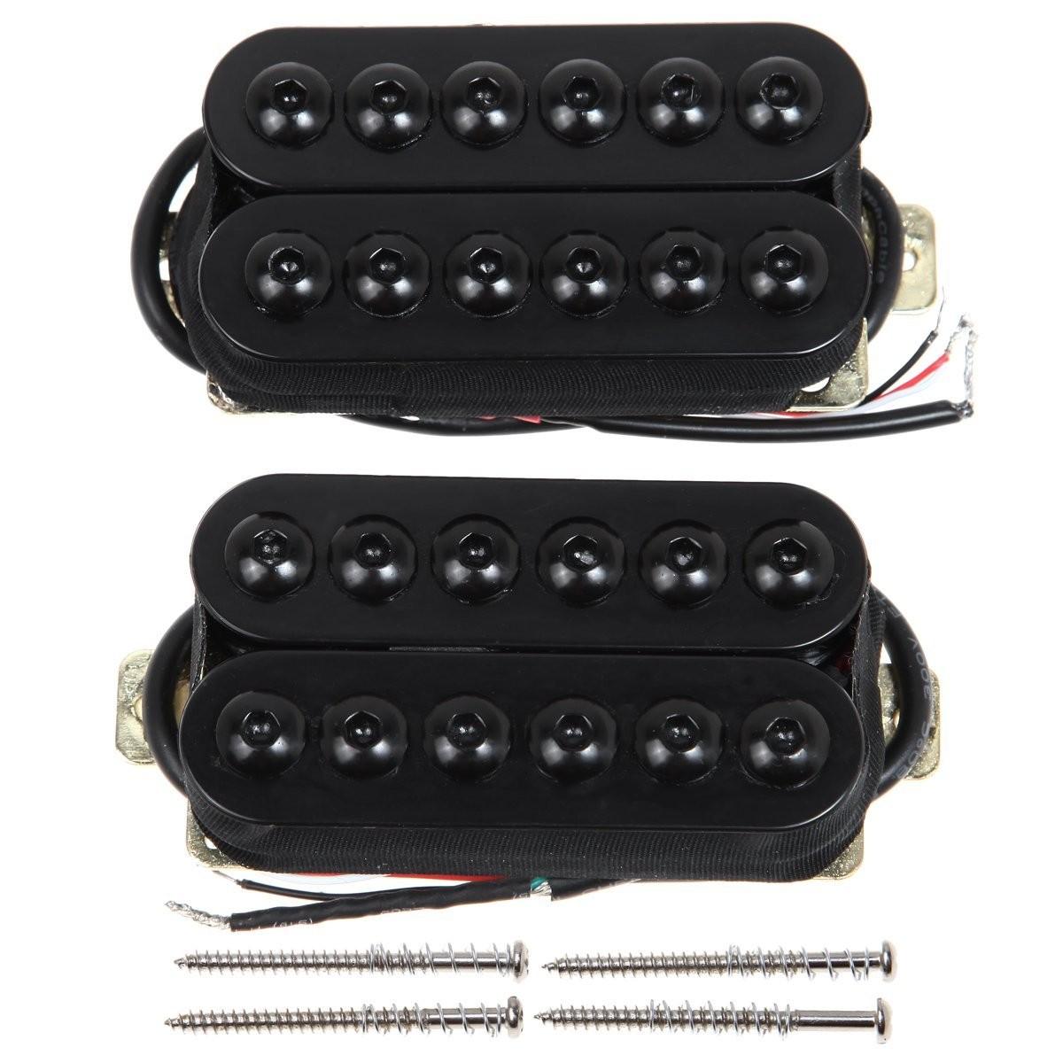 Amazon Kmise MI0339 Bridge Neck Guitar Humbucker Pickup Set Invader Style Black Musical Instruments