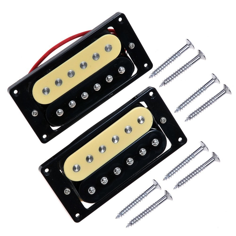 Amazon Kmise Zebra Faced Humbucker Double Coil Pickups For Electric Guitar Pickup Cream&Black Musical Instruments