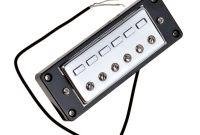 Kmise Pickups Luxury Kmise Mini Humbucker Guitar Pickups Bridge and Neck Parts Chrome