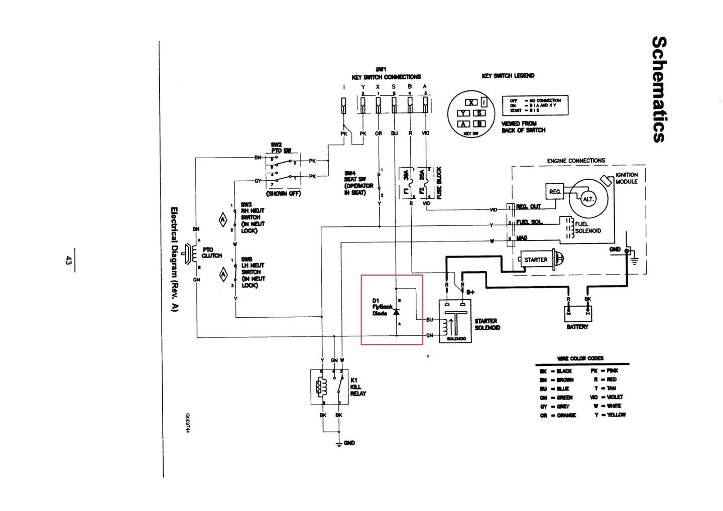 mand wiring diagram new for kohler engine unusual key switch gallery electrical charging harness on archived