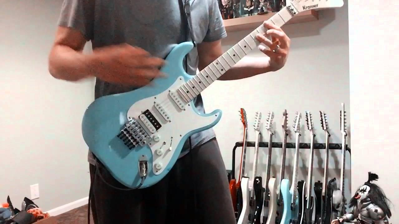Guitar Cover Fell Black Days Soundgarden Live Version Kramer Focus 3000
