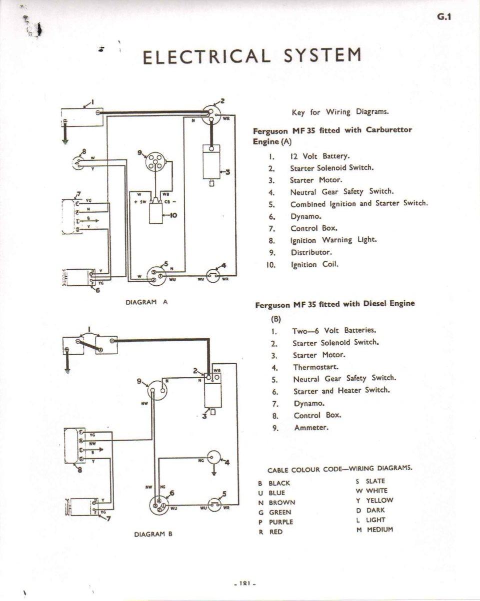 Allis Chalmers Wiring Diagram Ferguson Tea Te20nd T20 Radiantmoons Me B 10 12 Volt Model 960