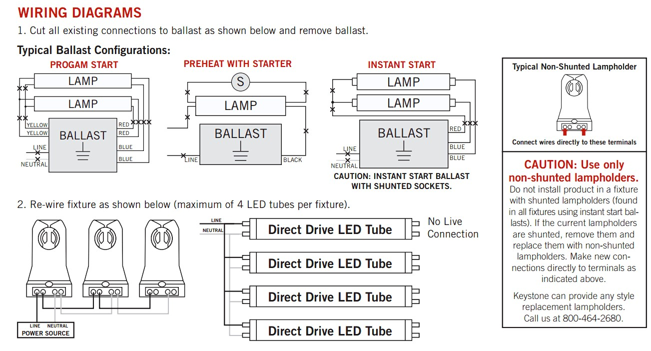 Lamp Wiring Diagrams Lamp Wiring Diagram blurts from led fluorescent tube  replacement ...