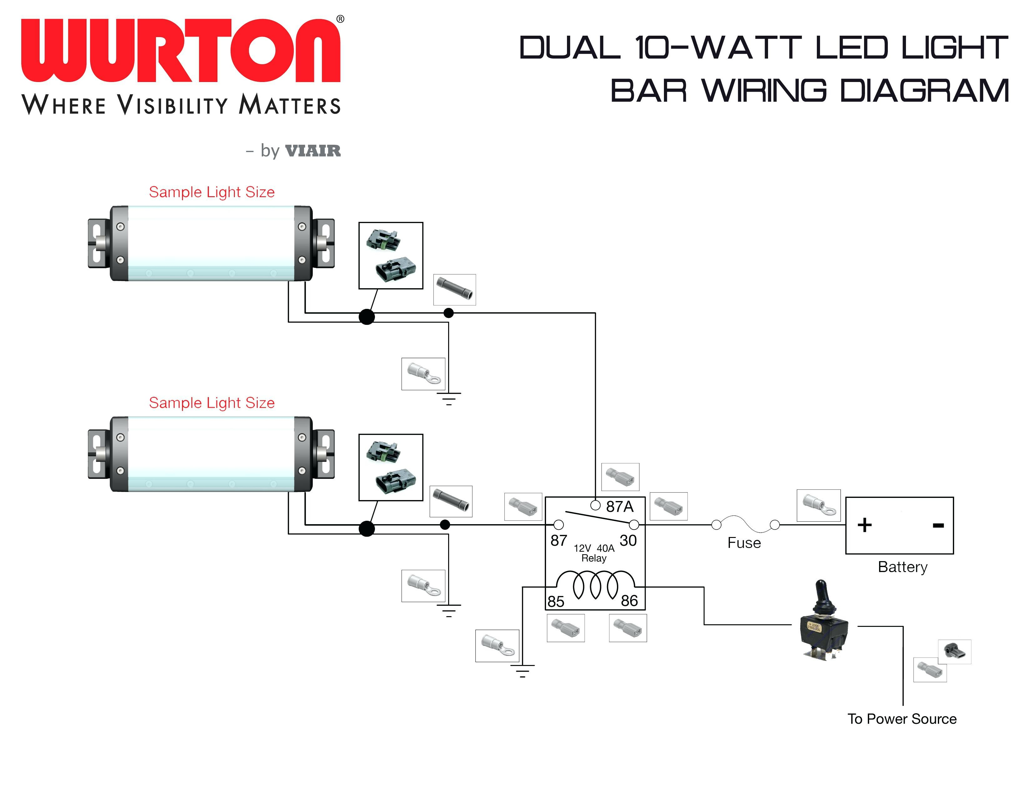 12v Relay Wiring Diagram Horn Light Led Bar Wire Up At For Lights And