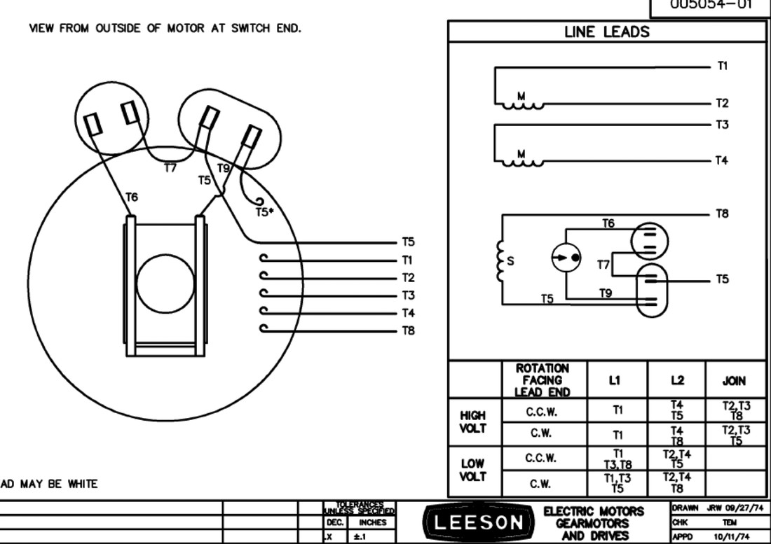 Mechanical Electrical size Single Phase Leeson Motor Wiring Diagram Contemporary Popular White Background Black