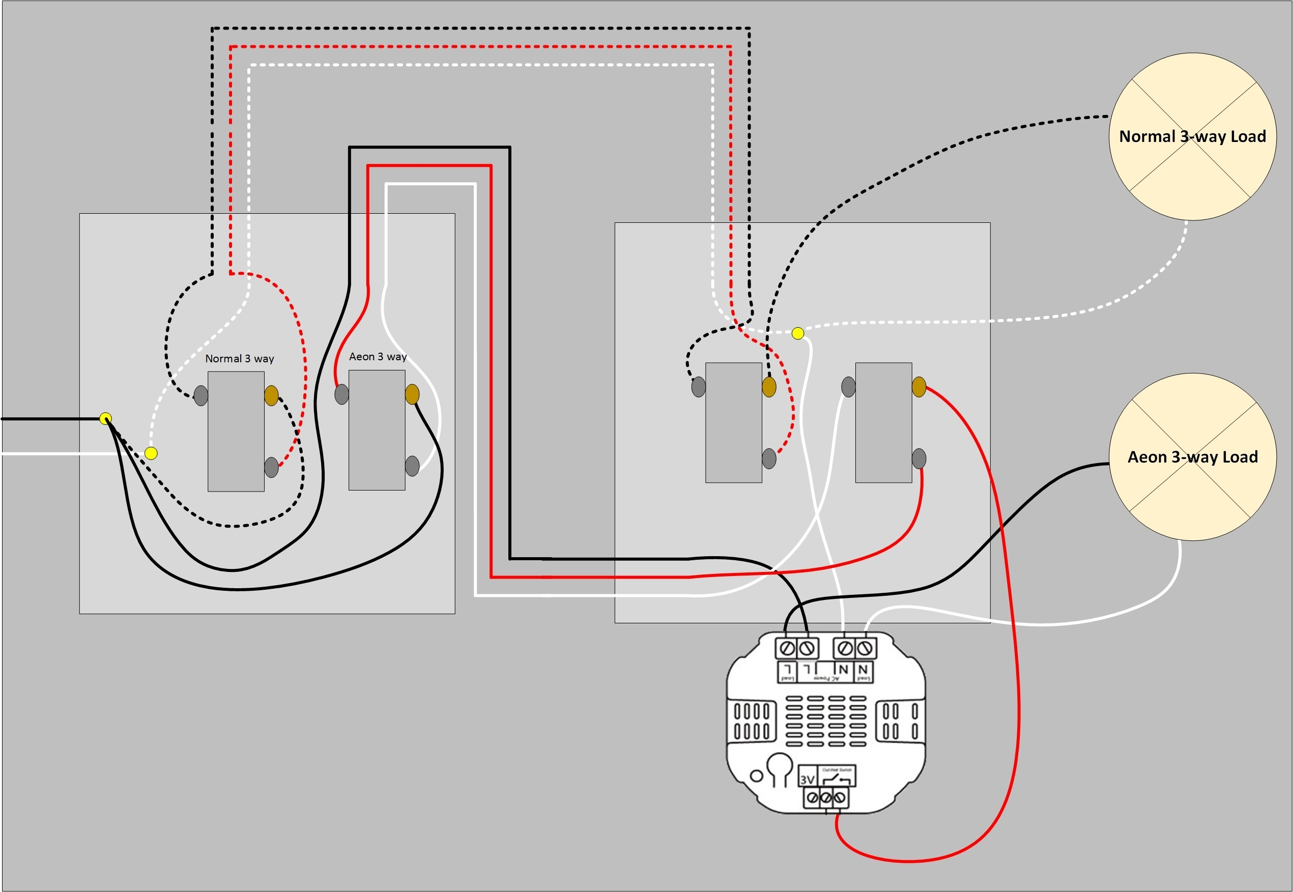 Wayitch Wire Diagram Wiring Multiple Lights Dimmer Led And 3 Way Switch Leviton Decora 5603 With