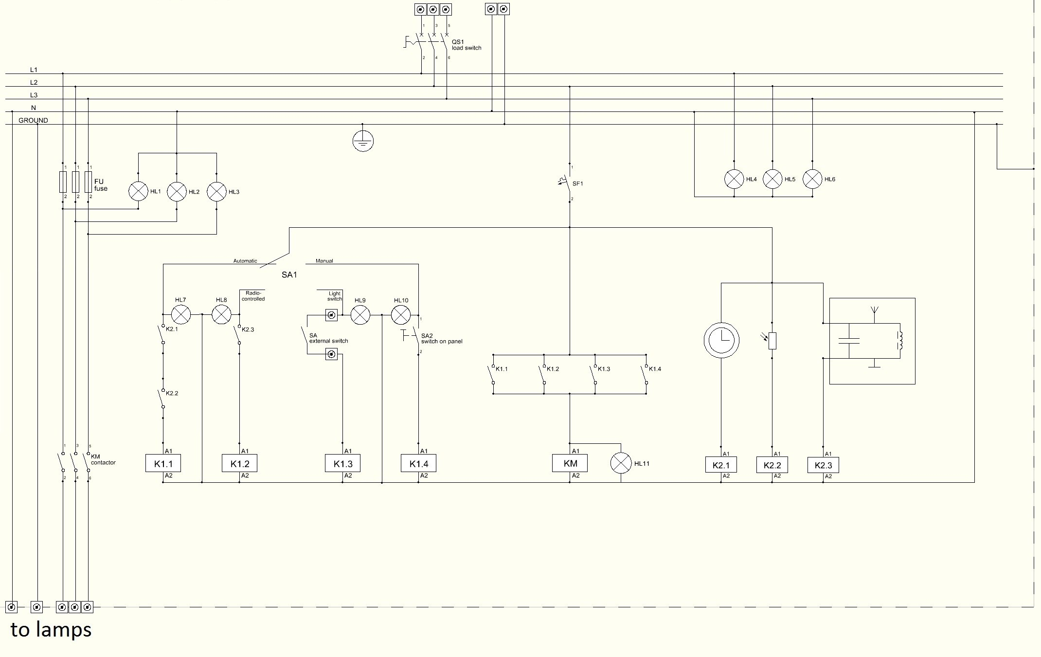 Wiring Diagram For Residential Lighting Download Diagrams 208 Starter On Control Rh 167 249 254 Guitar