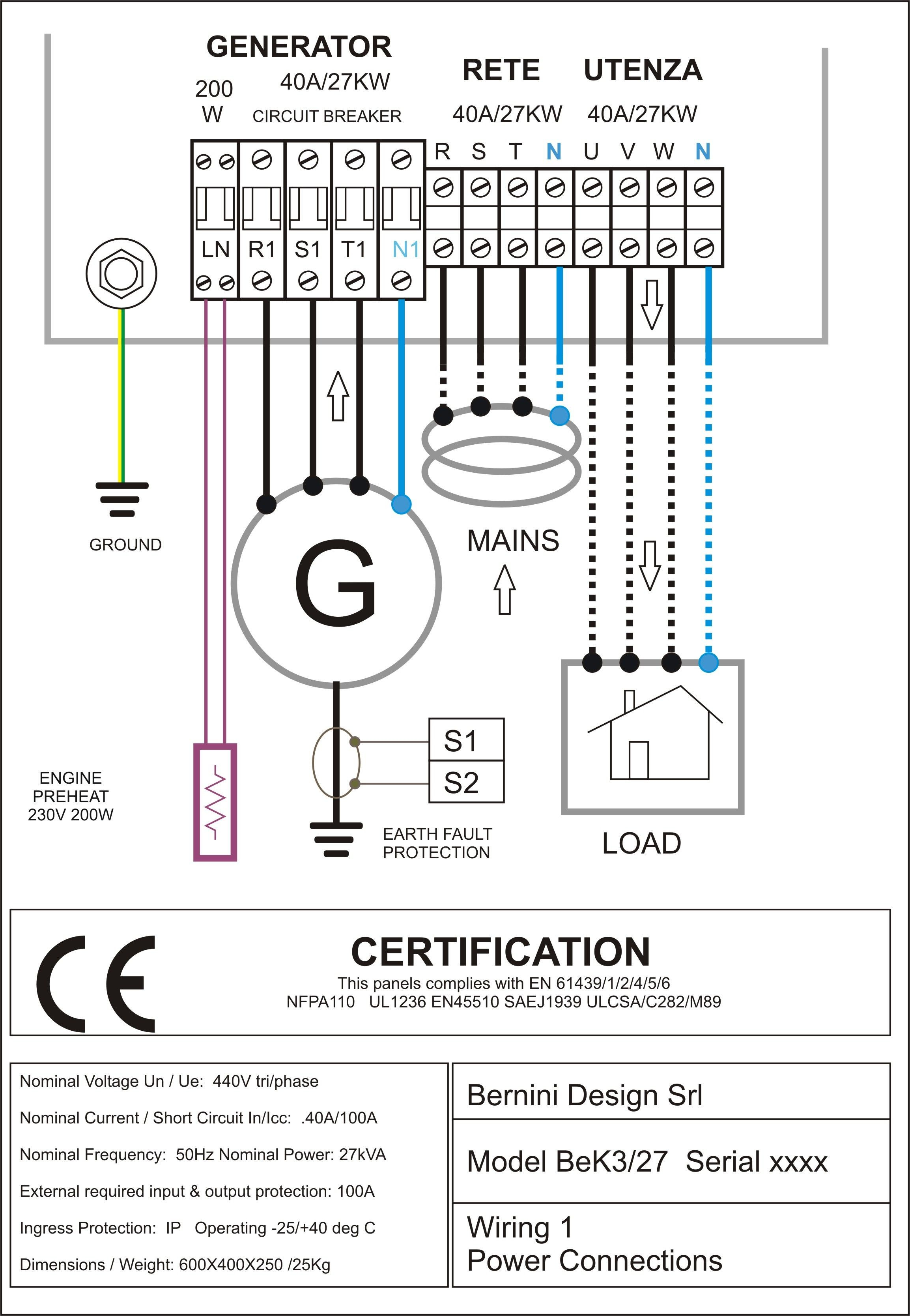 sel generator control panel wiring diagram AC Connections