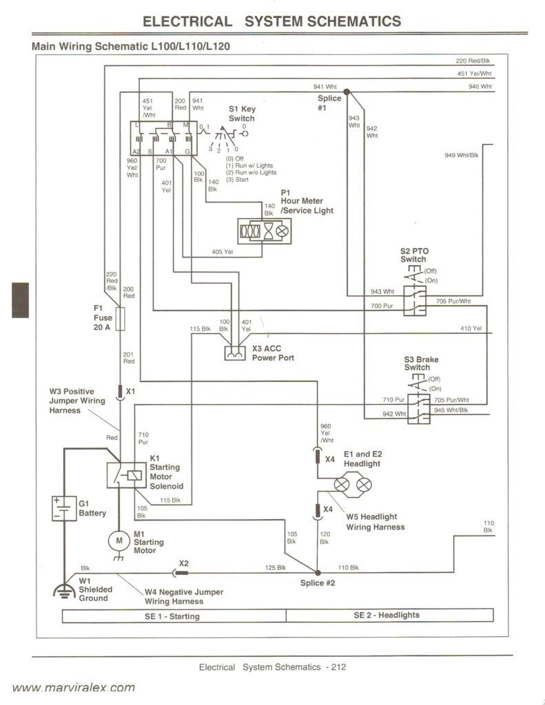 Wiring Diagram John Deere Lt155 Lt133 For 1968 210