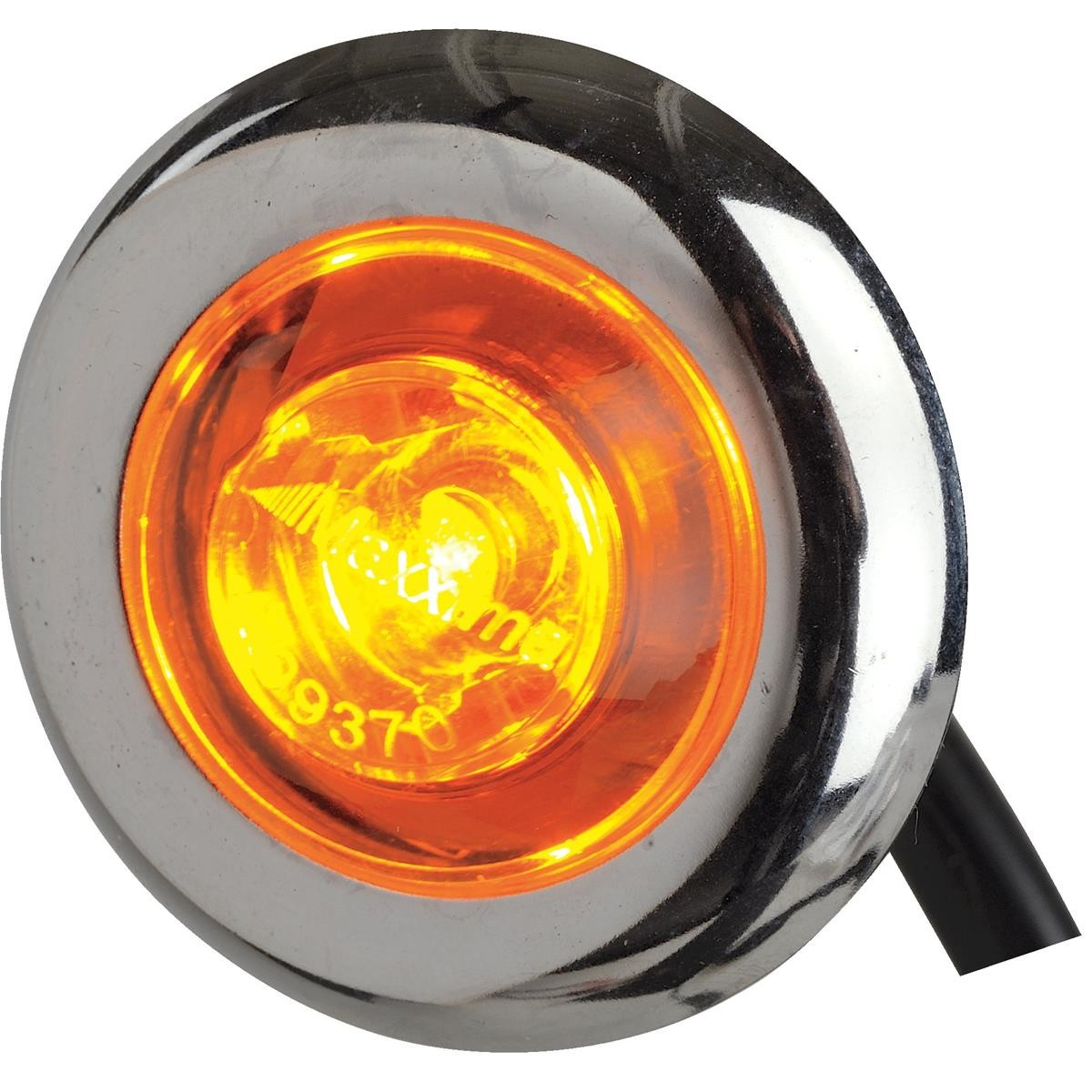 "MAXXIMA 1"" Dia LED Micro Strobe Light Amber LED Amber Lens"