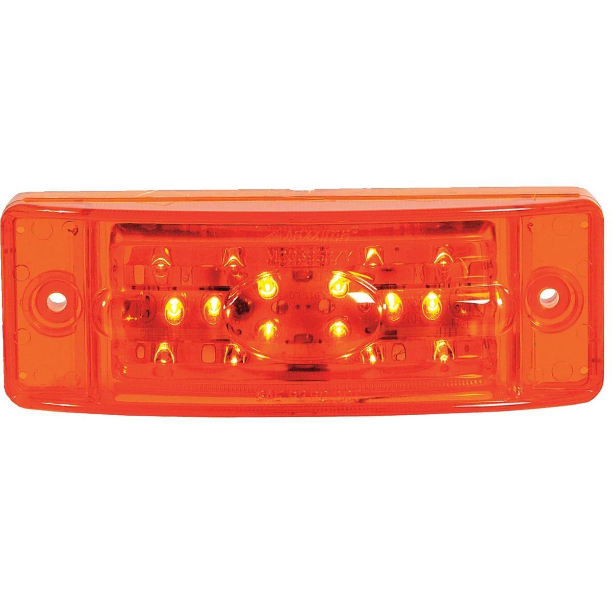 "MAXXIMA 18 LED bination Clearance Marker Light Amber 5 15 16""L x 2 1 8""H x 1 5 8""D"