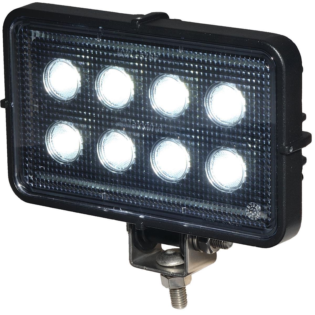 MAXXIMA Rectangular LED Work Light 2 150 lumens Clear Lens