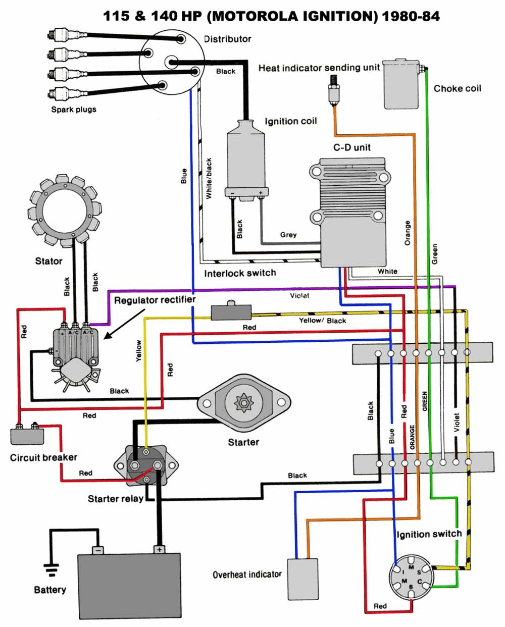 Mastertech Marine Chrysler Force Outboard Wiring Diagrams Cool Mercury  Ignition Switch Diagram