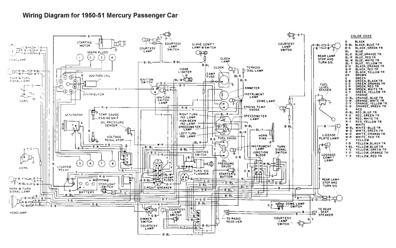Wiring for 1950 51 Mercury Car