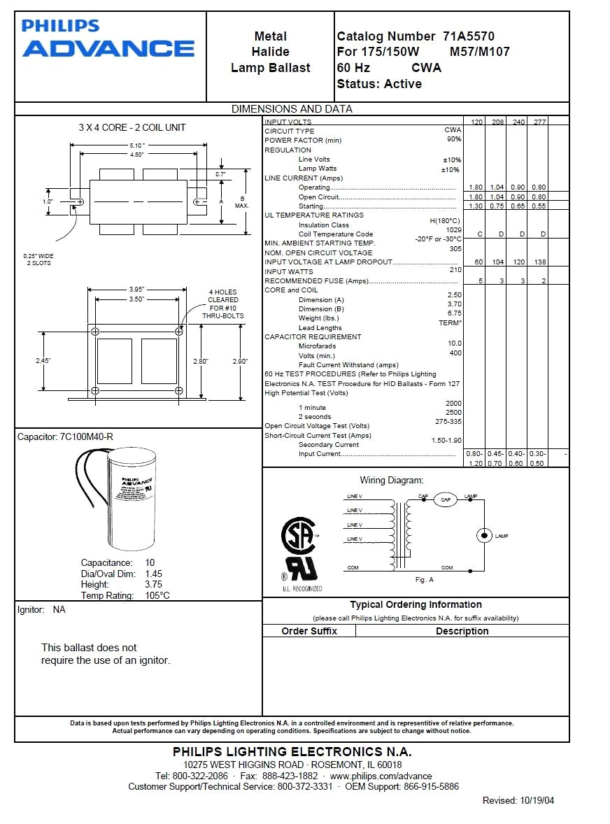 Metal Halide Ballast Wiring Diagram Wiring Diagram Image