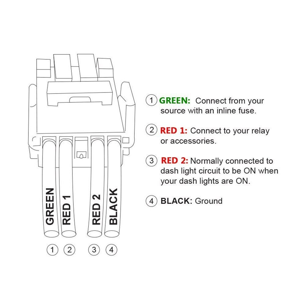 Mictuning Wiring Diagram New Image Light Bar Wire Amazon Led Push Button Switch With Connector Kit For Toyota Laser