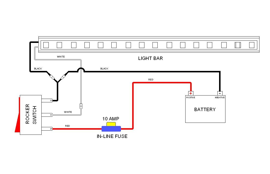 Led Light Bar Wiring Diagram With Switch Vision X Harness For Rzr Relay
