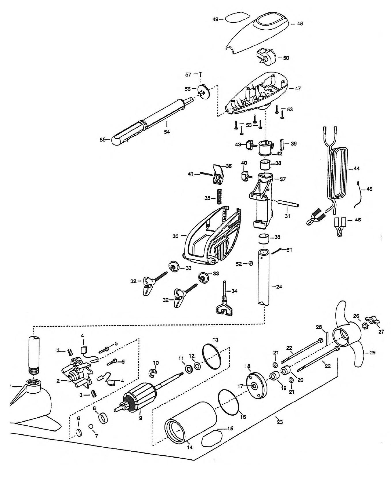 Minn Kota Trolling Motor Parts Breakdown