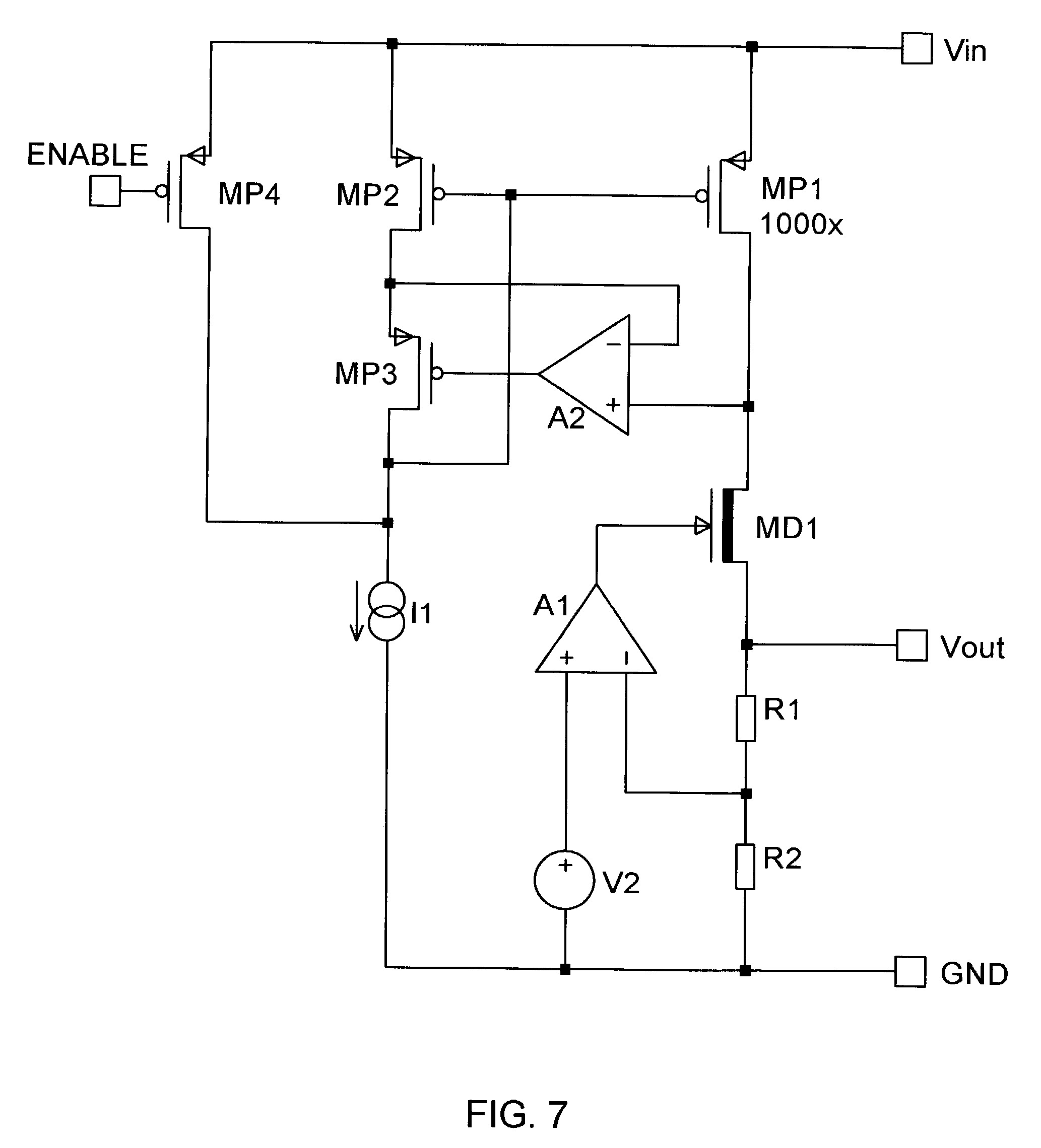Patent Us Low Dropout Voltage Regulator Using A Depletion Drawing electrical supply circuit diagram