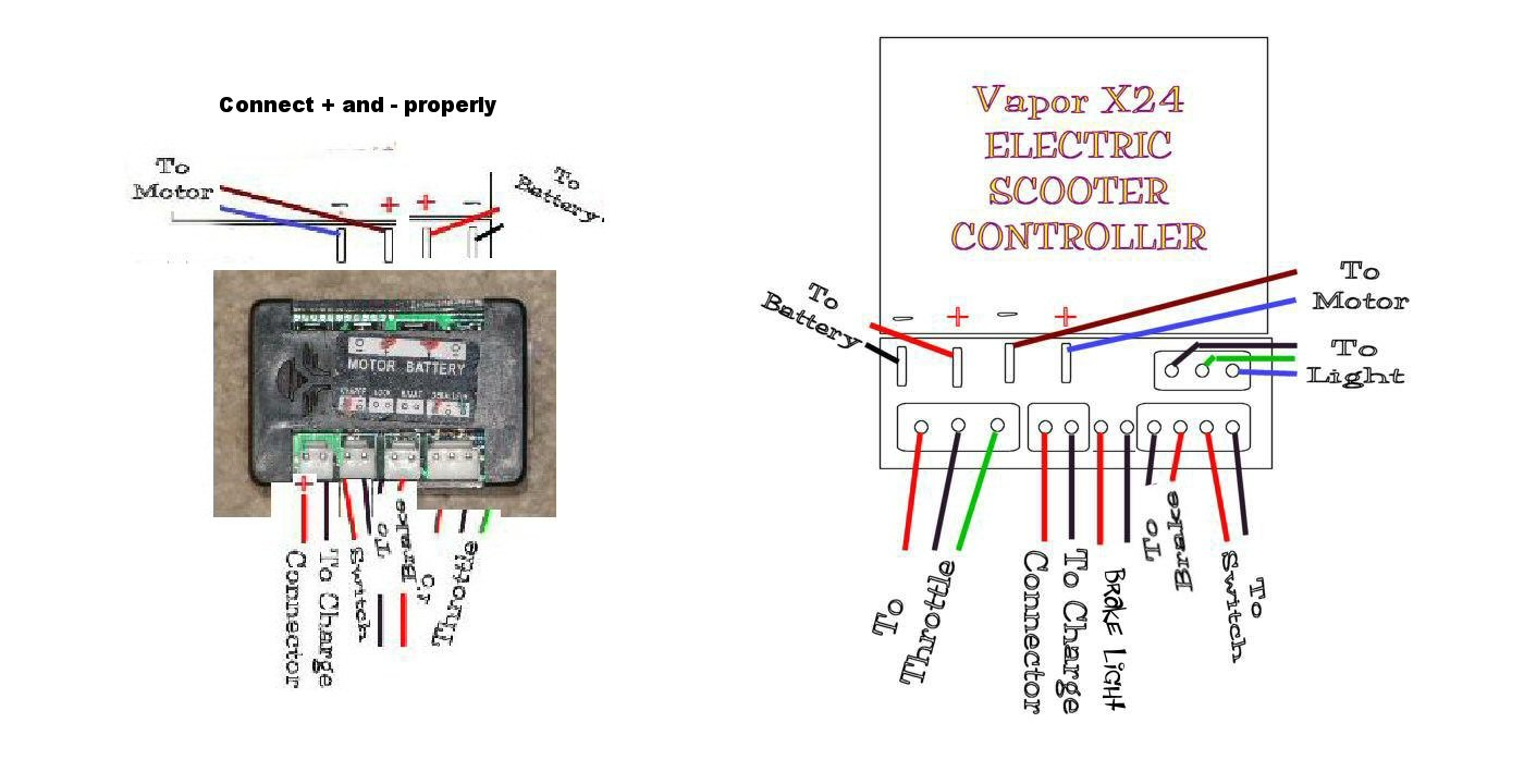 Scooter Electric Parts Throttles Controllers Control Boxes Inside Incredible Wiring Diagram
