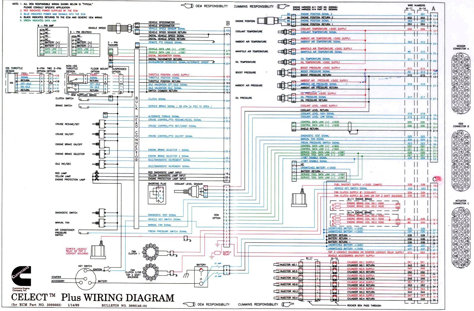 n14 celect ecm wiring diagram simple wiring diagram rh david huggett co uk  M11 Cummins Engine Electrical Diagram Cummins M11 Parts Diagram