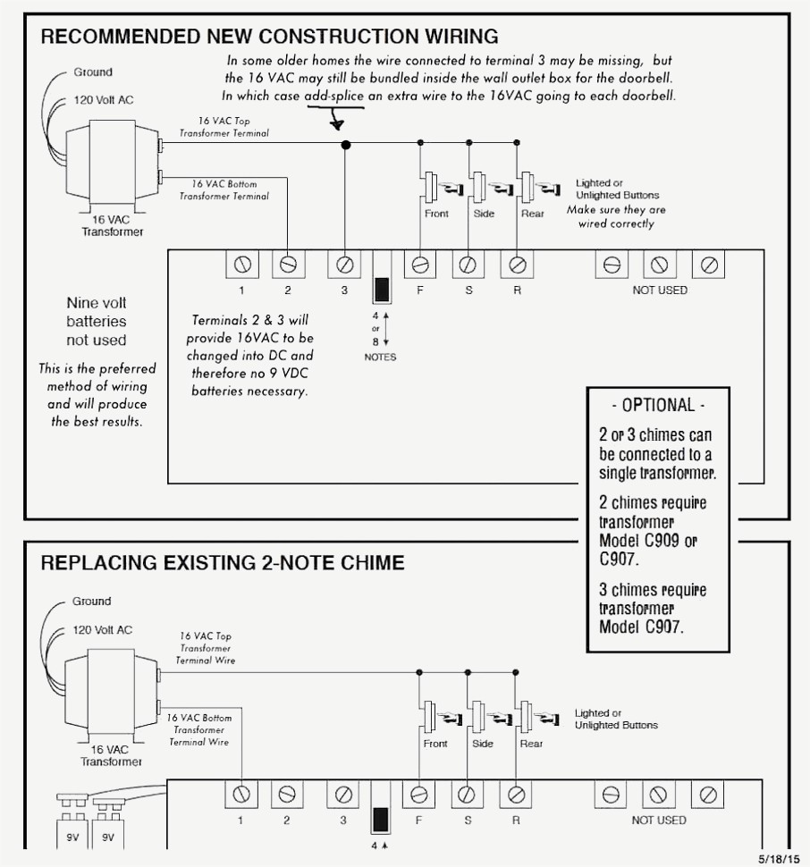Unusual Nutone Wireless Doorbell Wiring Diagram Wiring