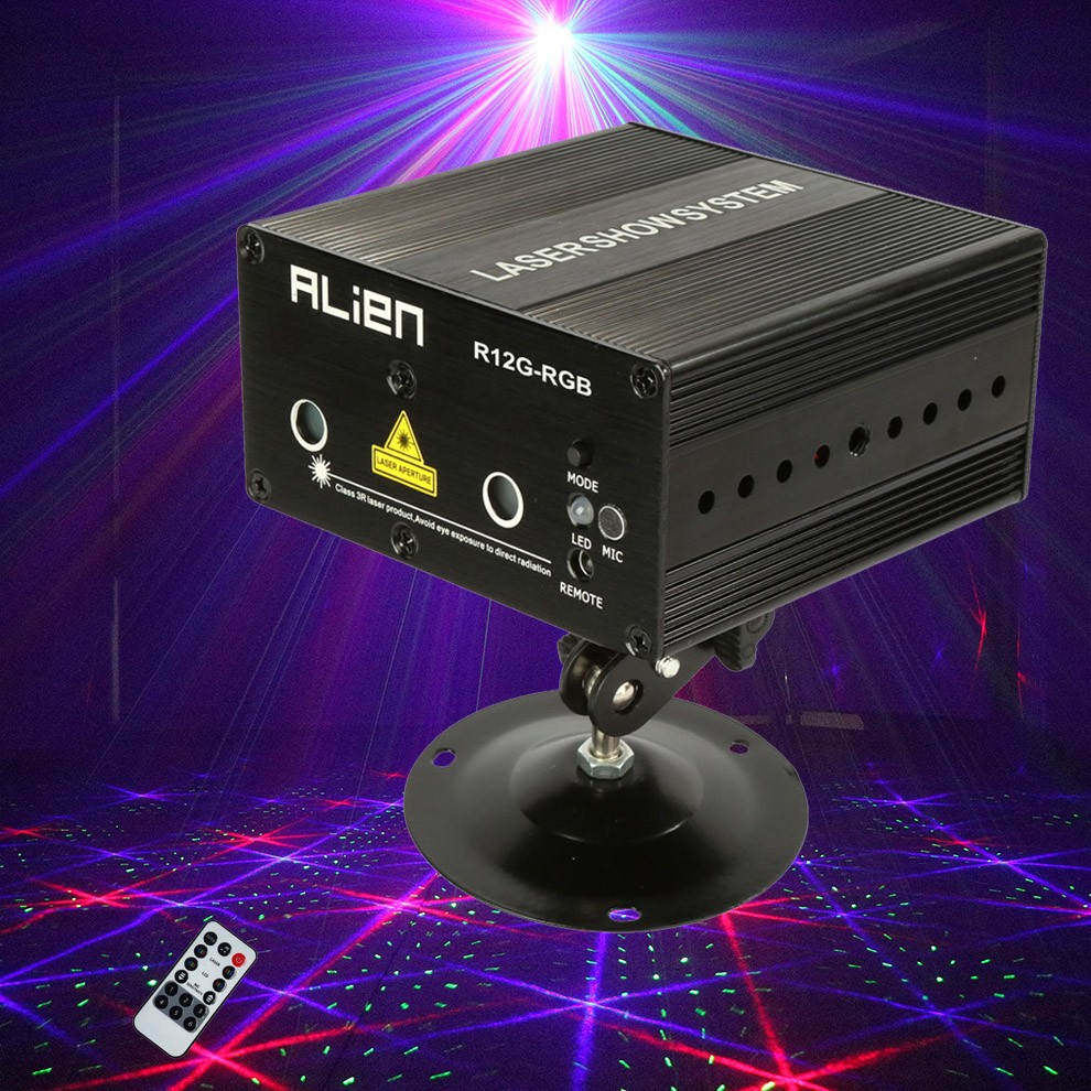 Mini RGB Laser Light Show Projector Portable Home Party Disco Lights Luces Discoteca Lumiere Lamp DJ Lighting System For Sale in Stage Lighting Effect from