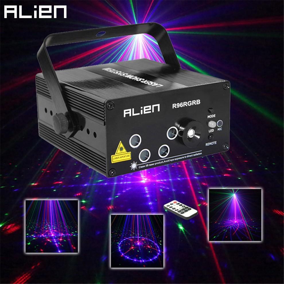 ALIEN New 96 Patterns RGB Mini Laser Projector Light DJ Disco Party Music Laser Stage Lighting