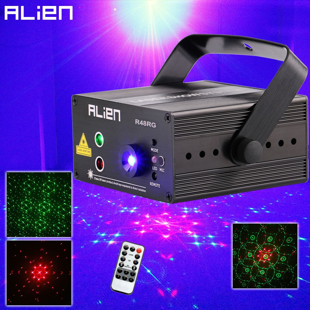 ALIEN RG 3 Lens 48 Patterns Mixing Laser Projector Stage Lighting Effect Blue LED Stage Lights Show Disco DJ Party Lighting in Stage Lighting Effect from