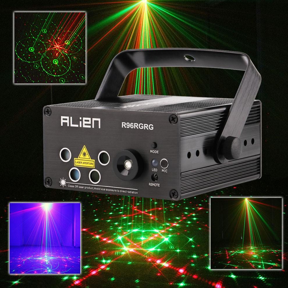 Led Mini Laser Projector RG Stage Lighting Effect Disco Bars Light Family Party Lights Show 110V
