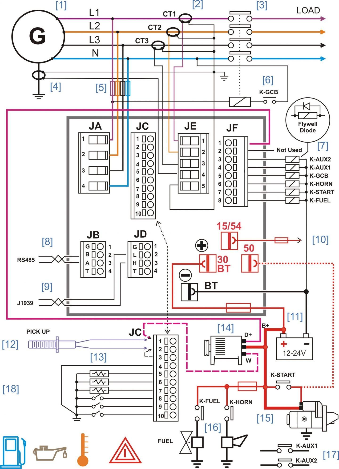 Diesel Generator Control Panel Wiring Diagram And Relay Pdfr Antenna Reverse Electric Fan Power Window Lighting