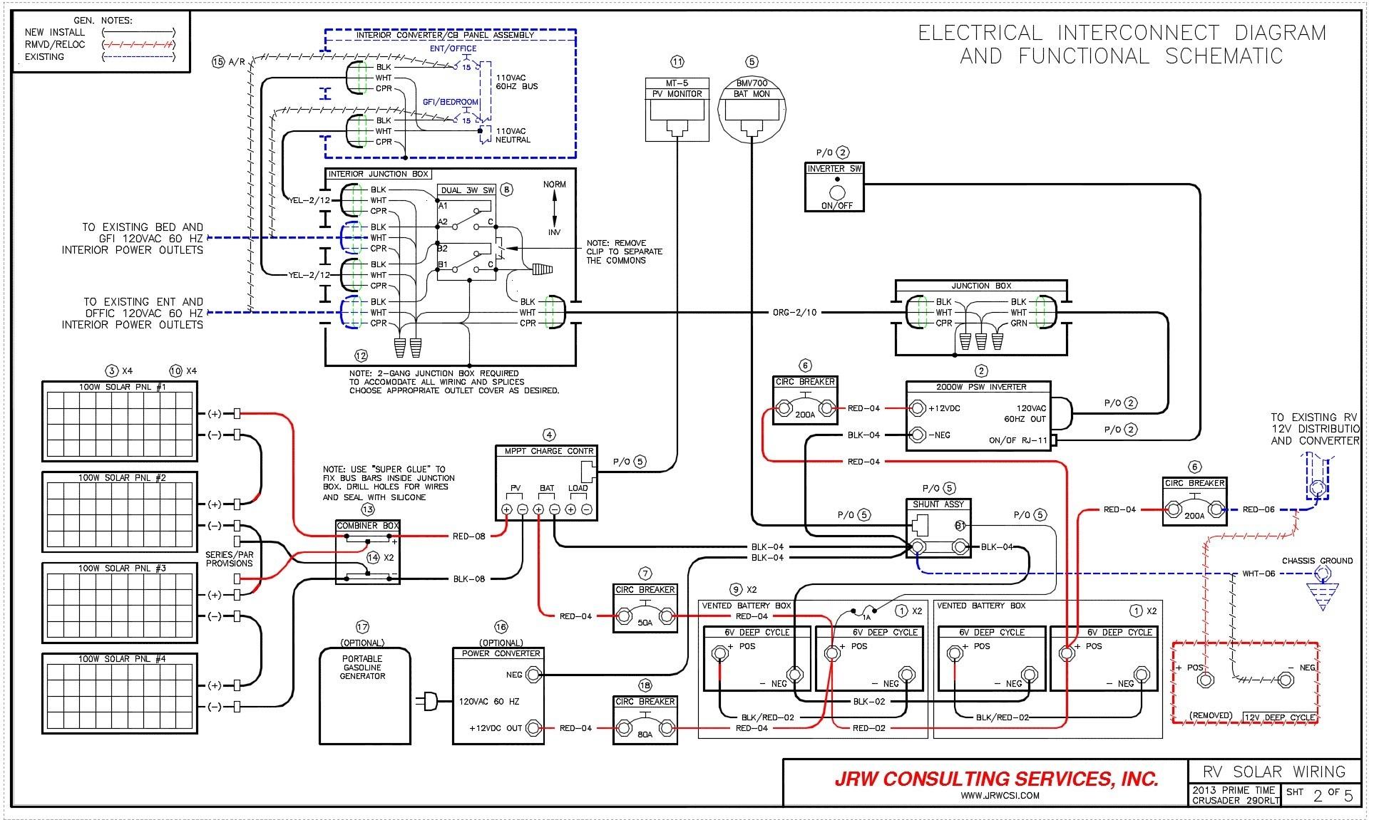 Wiring Diagram For Rv Electrical Fresh Power Converter Inside
