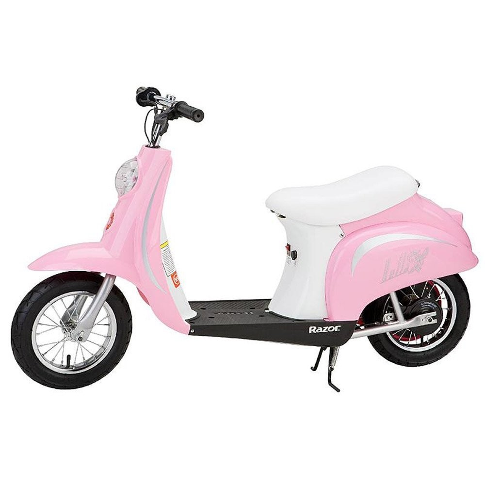 Amazon Razor Pocket Mod Miniature Euro 24V Electric Retro Scooter Pink