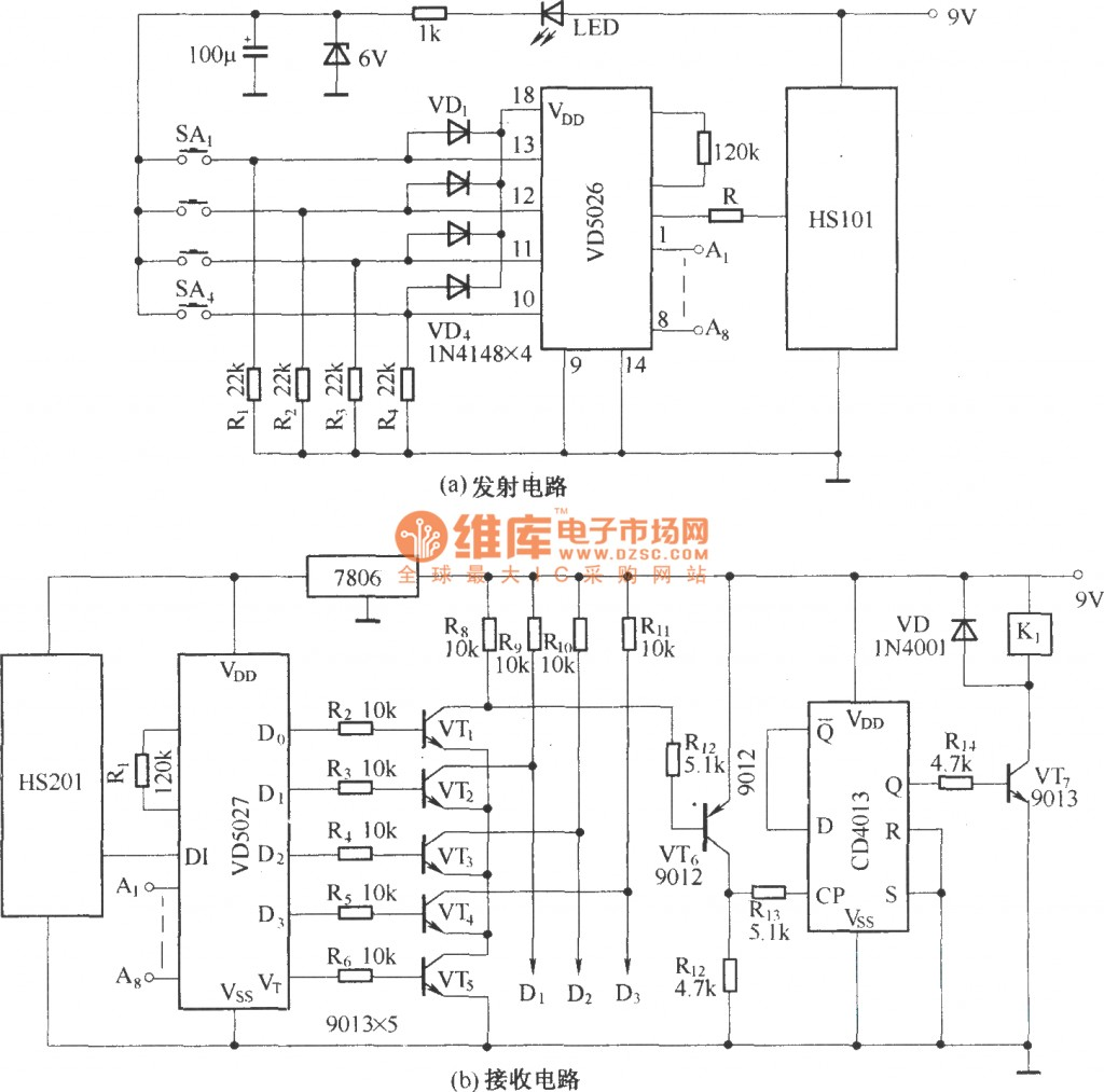 Rc Car Wiring Diagram Image Com Circuitdiagram Automotivecircuit Remotecontroltoycarcircuit Circuit Posed Hs101hs201 Channels Remote Control Switch Incredible