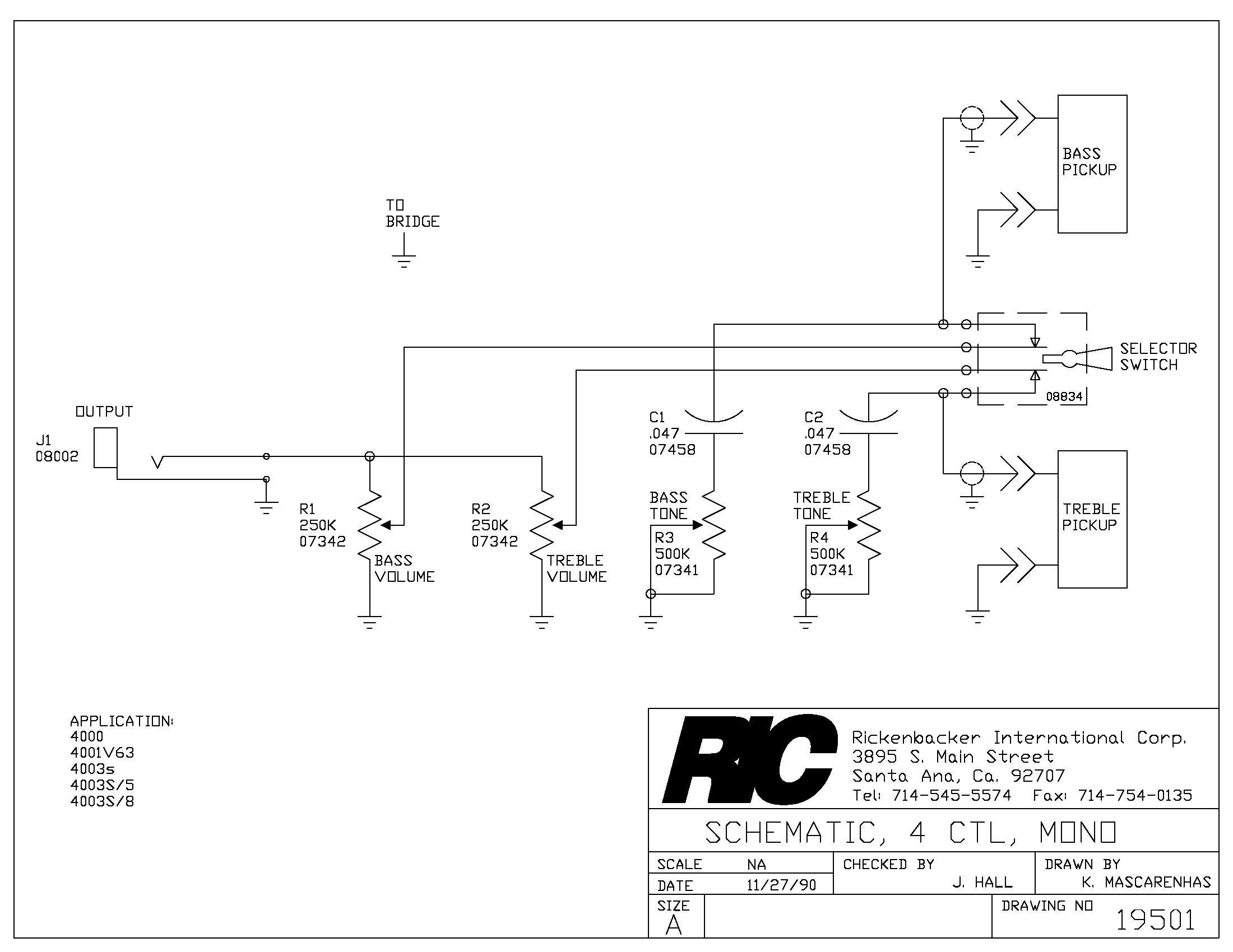 Rickenbacker 4003 Wiring Diagram 5 Wiring Diagram