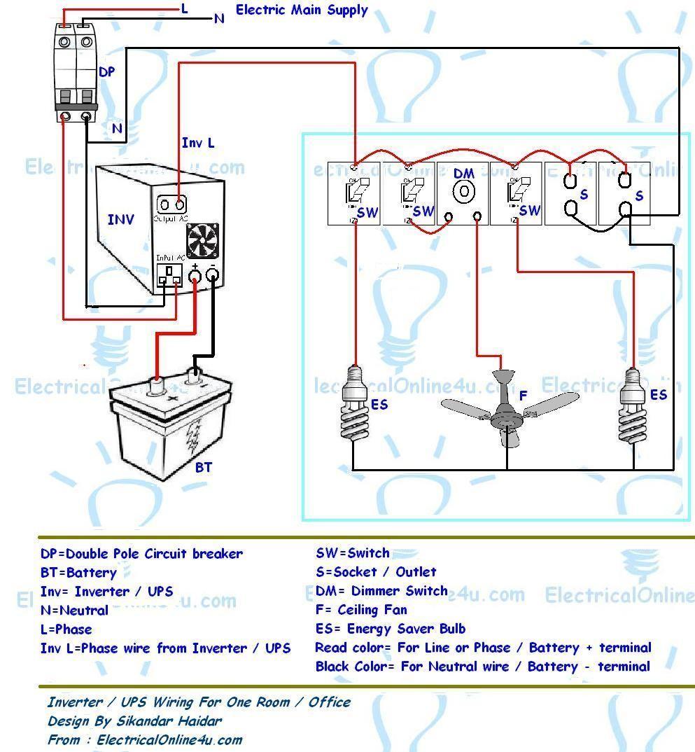 Ups & Inverter Wiring Diagram For e Room fice Electrical Boat Inverter Wiring Diagram Inverter Wiring Diagram