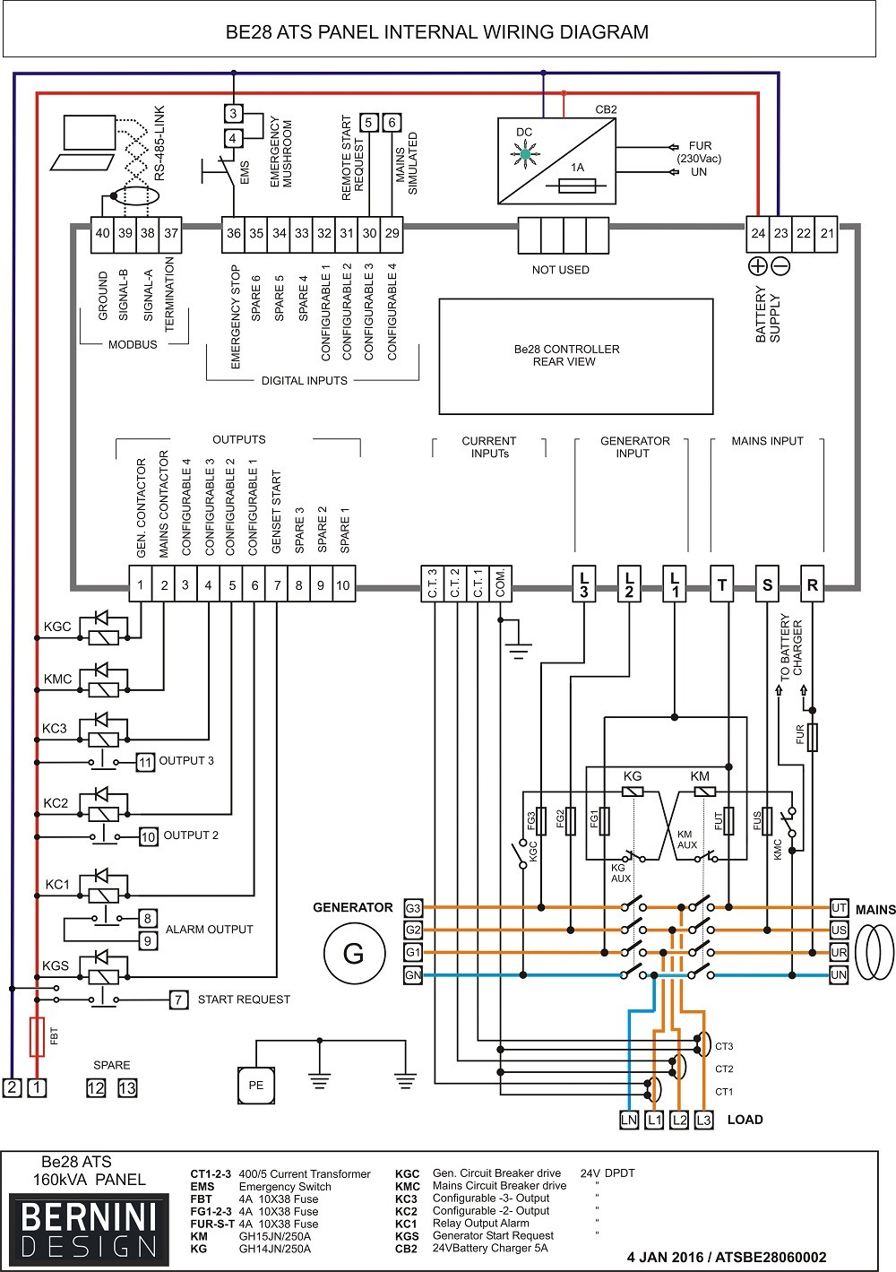 Automatic Transfer Switch Between Solargenerator And FS Generac Wiring Diagram