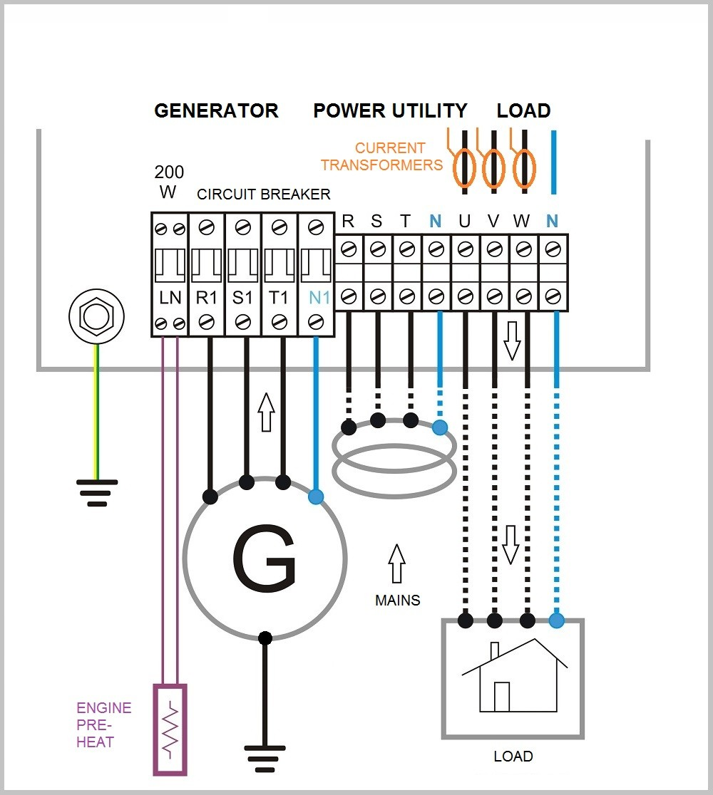 Relianceator Transfer Switch Wiring Diagram Phase Automatic Circuit Changeover For In