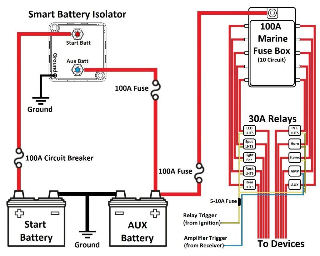 Smart Battery Isolator Dual Wiringam Aopec Setup For