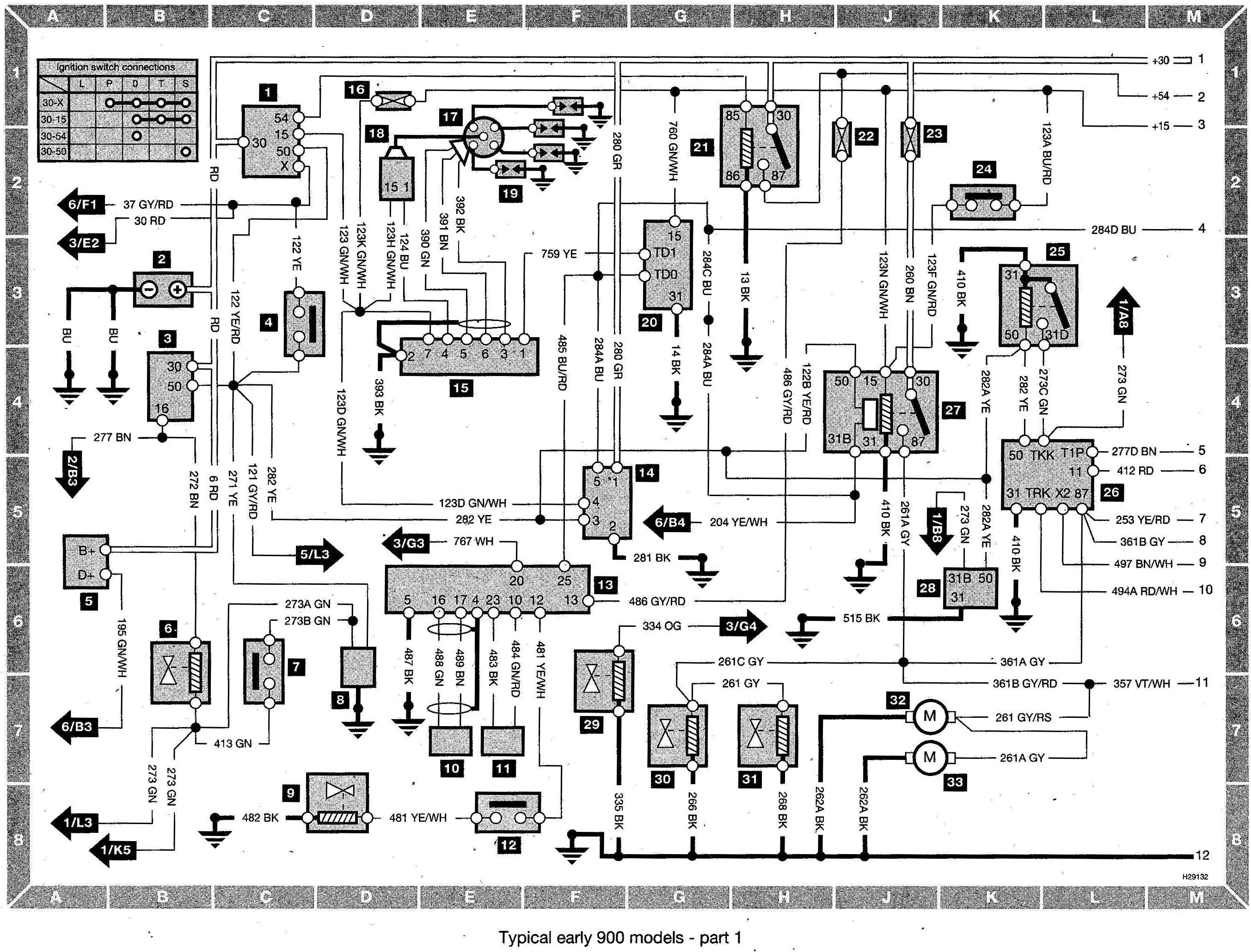 2000 saab 9 3 radio wire diagram