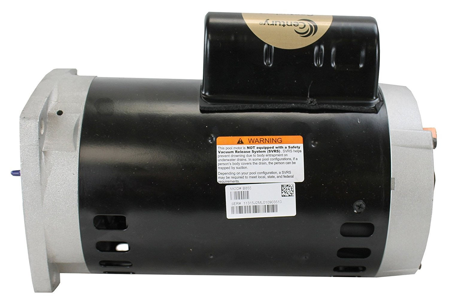 Amazon Century Electric B855 2 Horsepower 56Y Frame Up Rated Square Flange Replacement Motor Formerly A O Smith Swimming Pool Pump Accessories