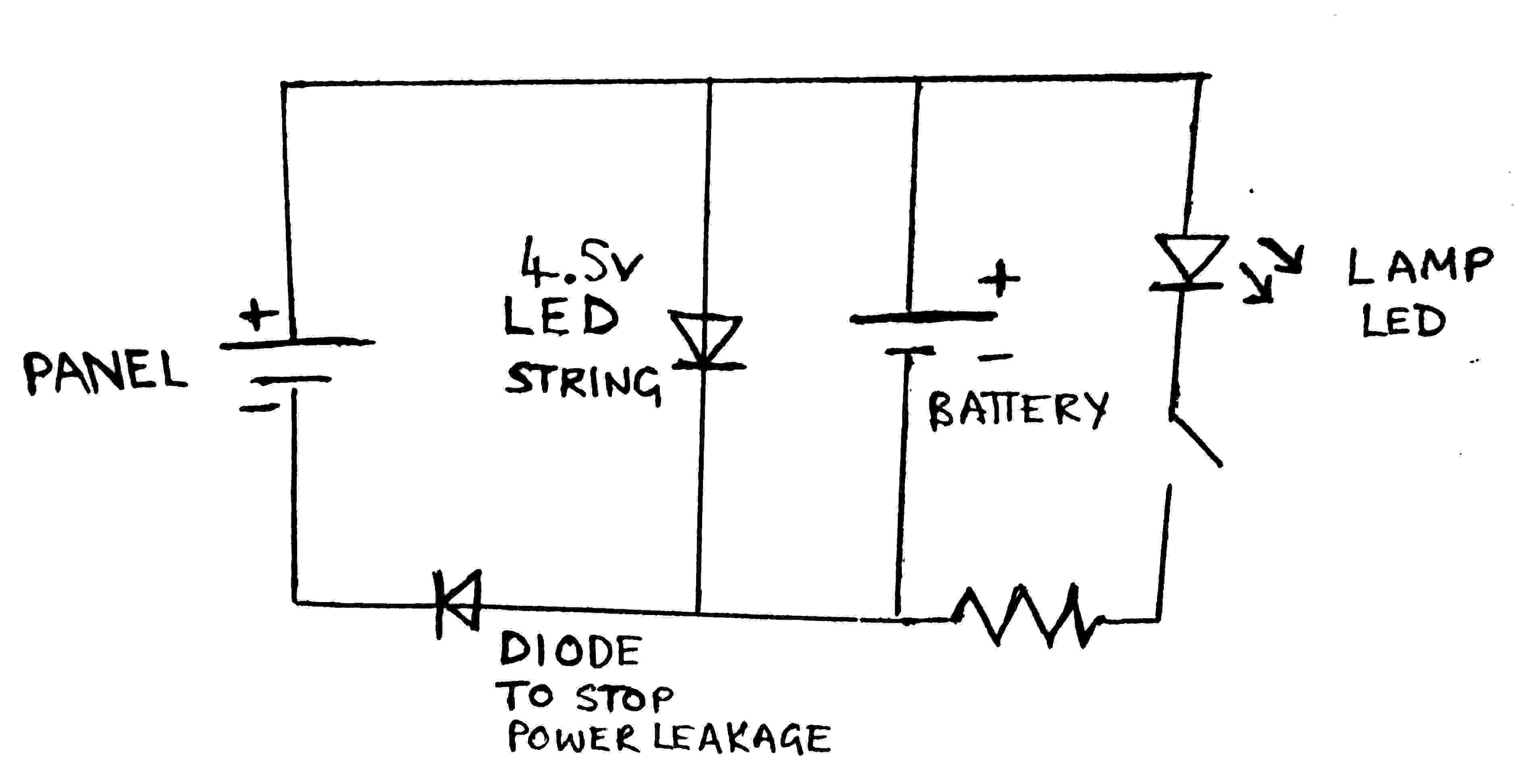 Solar Led Light Circuit Diagrams led Bulb Circuit Wiring Diagram Ponents