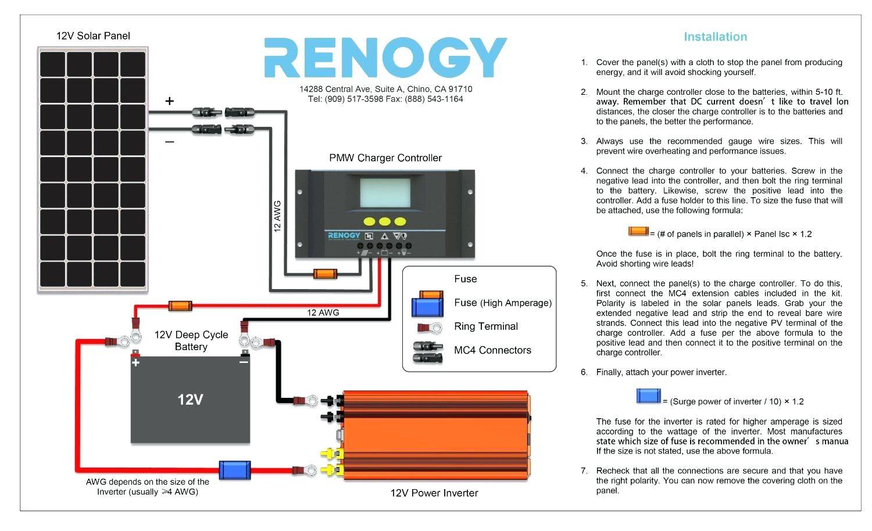 Full Size of How To Install A Solar Panel Starter Kit For The 12v Wiring Diagram