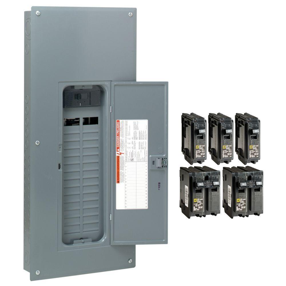 Homeline 200 Amp 30 Space 60 Circuit Indoor Main Breaker Plug Neutral