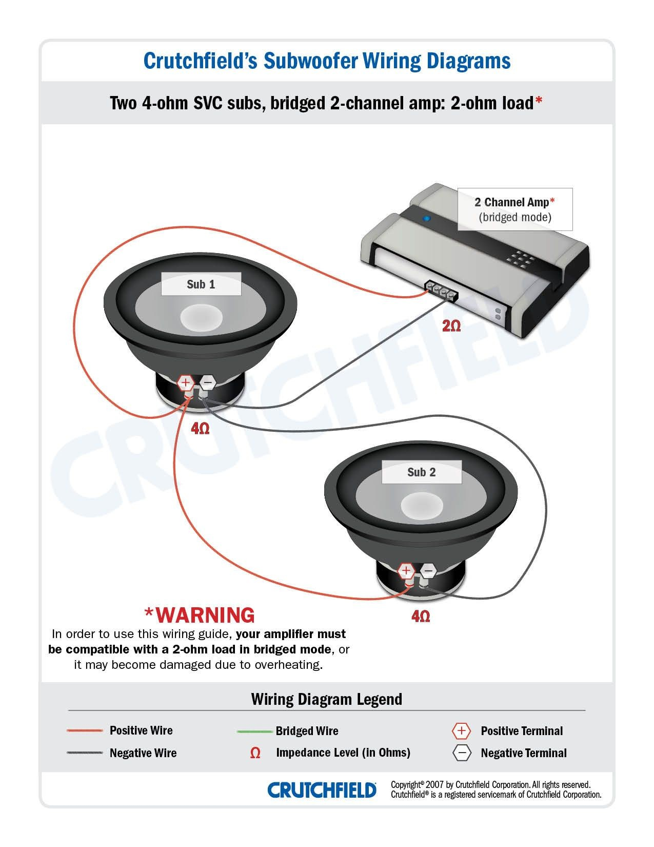 How To Wire Car Speakers To Amp Diagram 2 SVC 4 Ohm