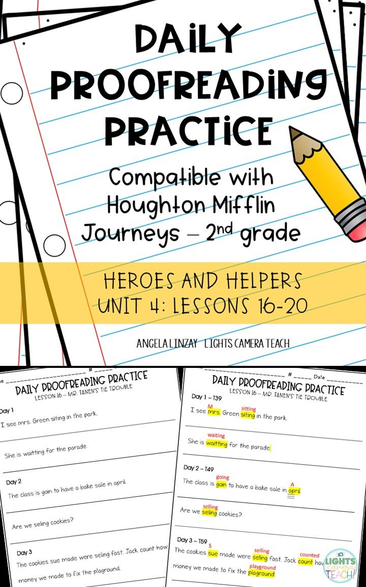 Daily Proofreading Practice Aligns w Gr 2 Houghton Mifflin Journeys Unit 4