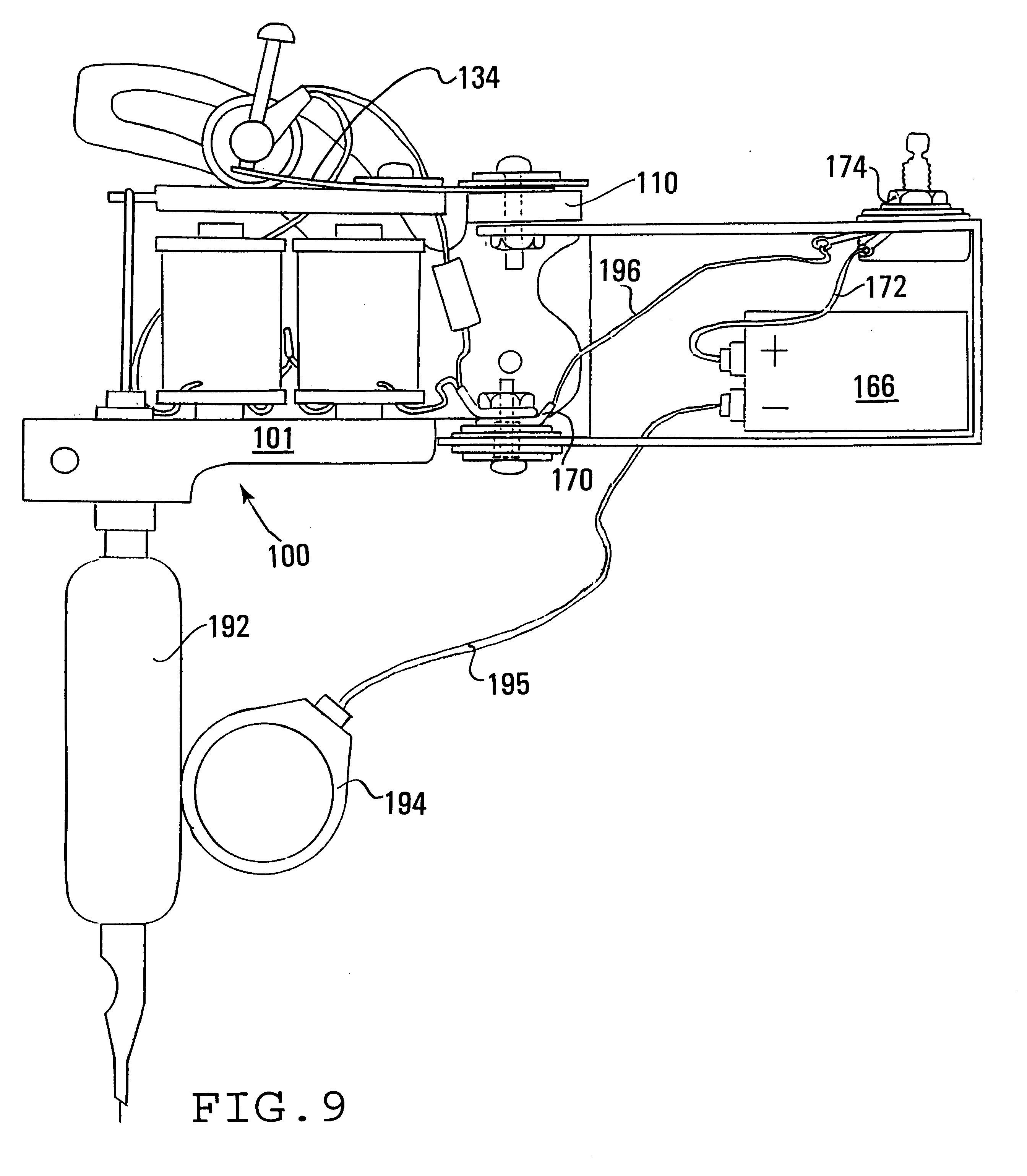 Patent Us Tattoo Technology Google Patents Drawing connecting electrical wires dual humbucker wiring diagram