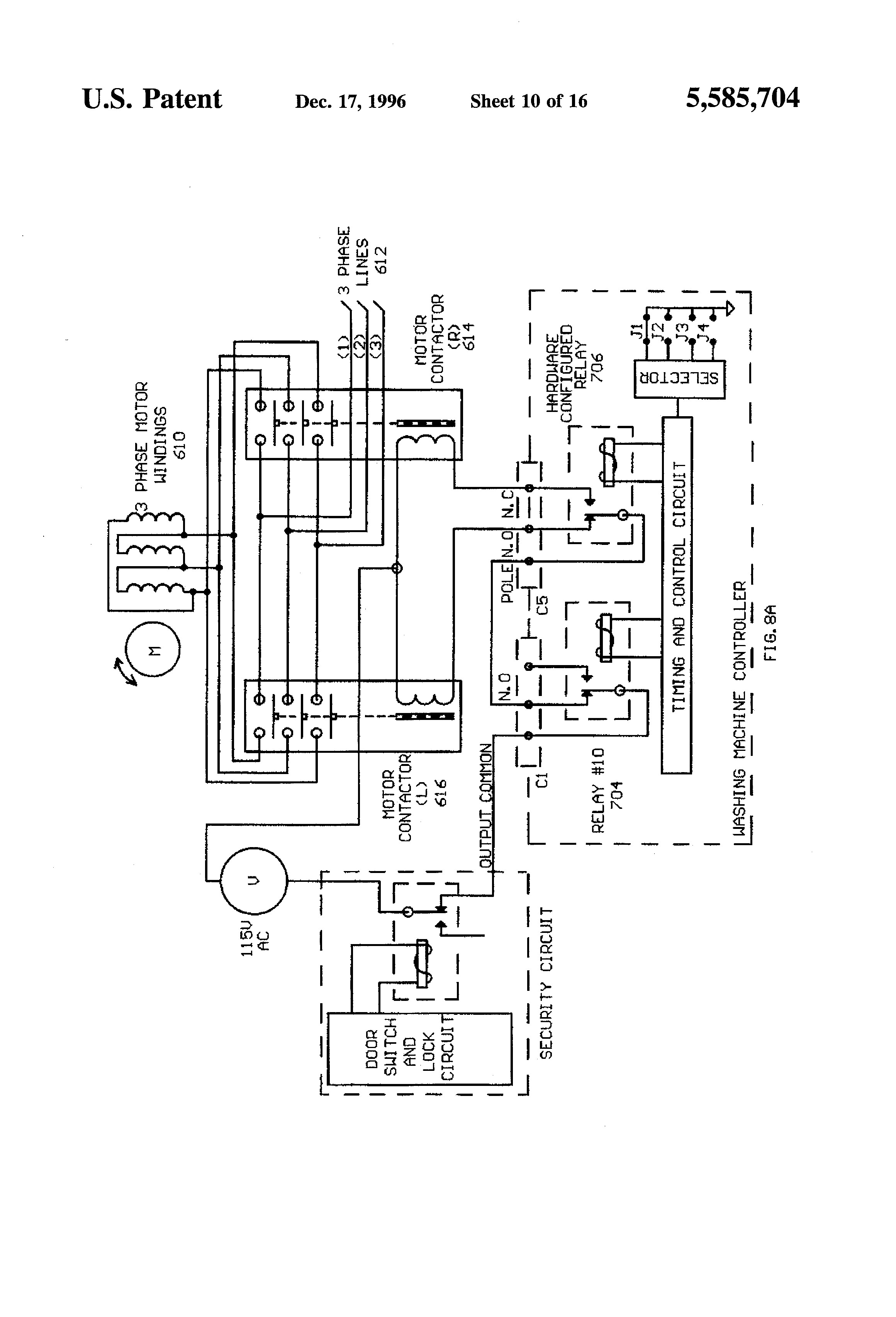 Diagram Patent Us puter Means For mercial Washing Machines Inside Whirlpool Machine Wiring Tattoo Power Schematic
